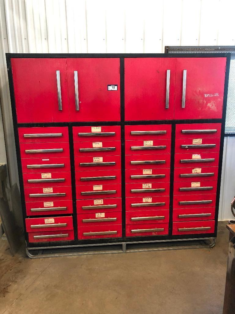 skidded-shop-cabinet-w-2-cabinets-and-32-drawers