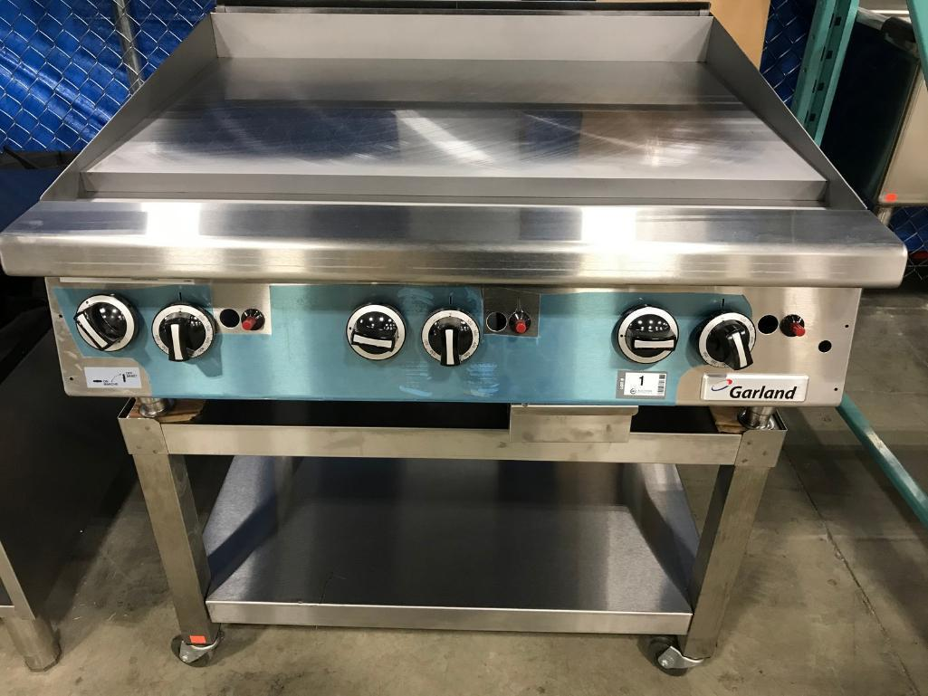garland-gtgg36-gt36m-countertop-griddle-nat-gas-comes-with-stand-new