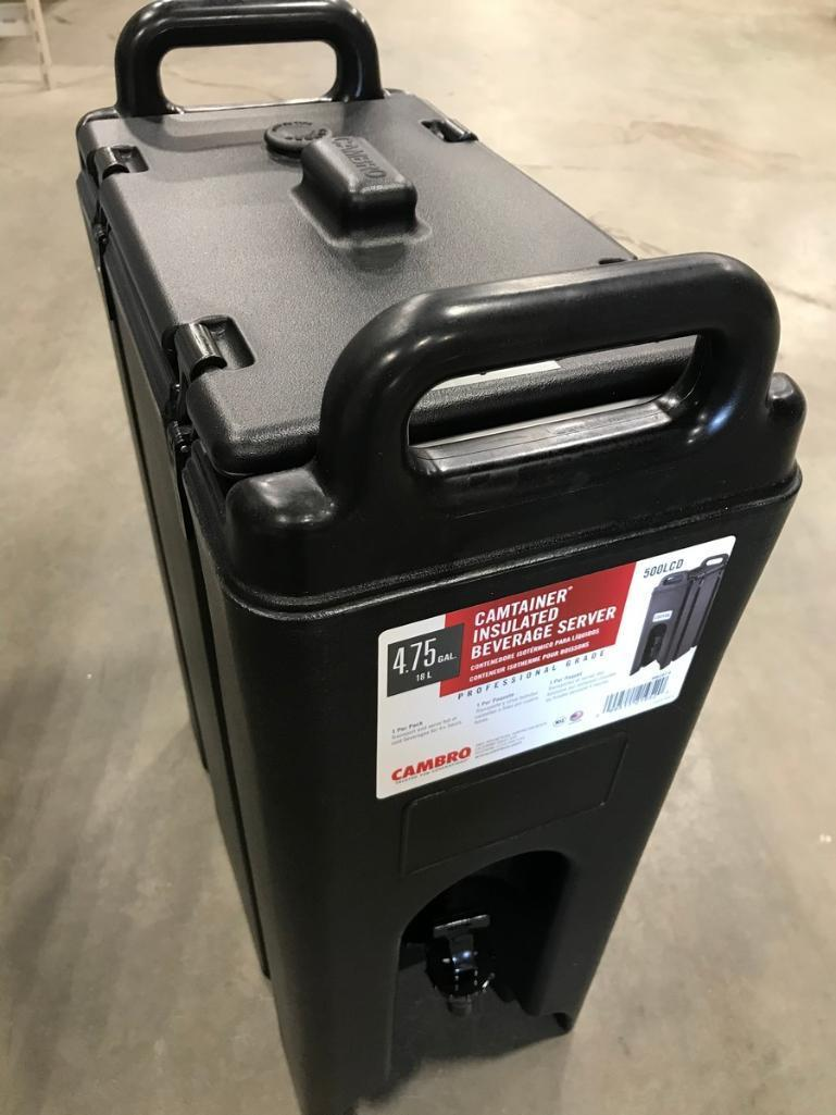 cambro-500lcd-4-3-4-gallon-insulated-beverage-carrier-black-new