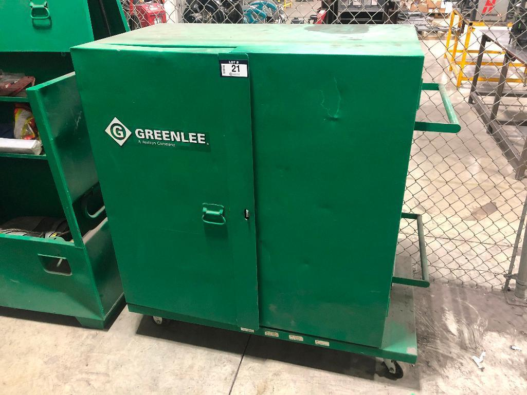greenlee-mesh-utility-cabinet-w-asst-contents-including-hard-hats-first-aid-kit-etc