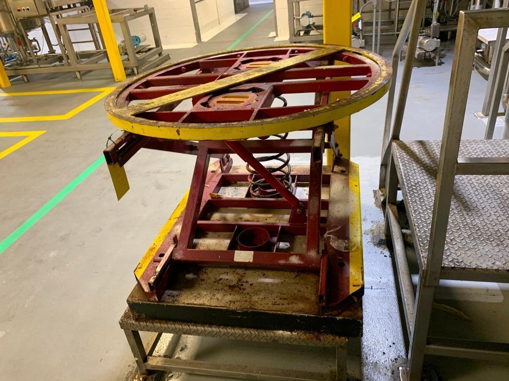 stainless-steel-table-with-south-worth-pallet-lift-turn-table