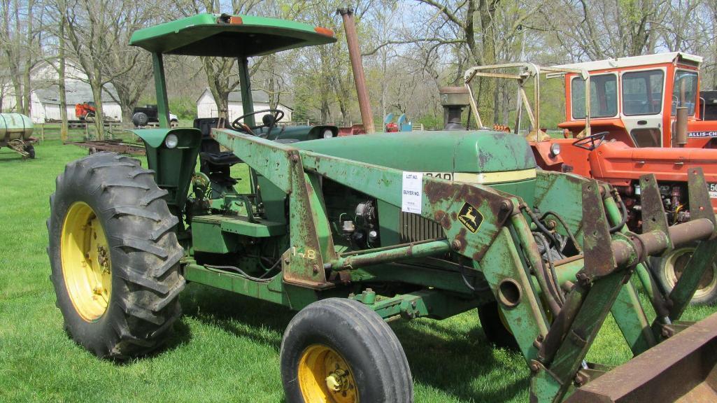 john-deere-2840-diesel-tractor-with-model-148-loader-including-5-bucket-wi