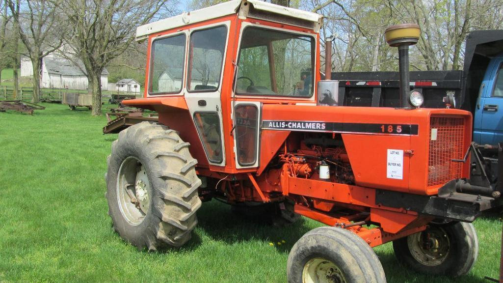 allis-chalmers-185-diesel-tractor-with-4491-hours-and-hard-to-find-cab-mi