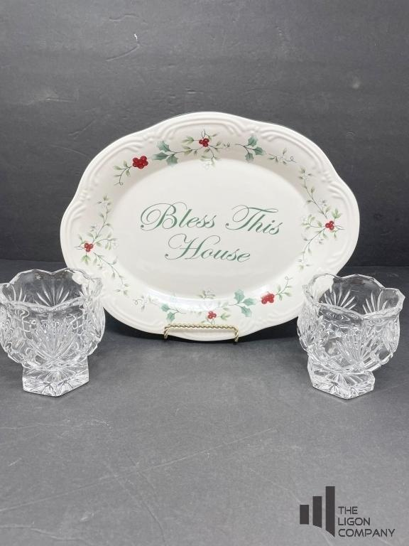 bless-this-house-plate-with-crystal-candle-holders