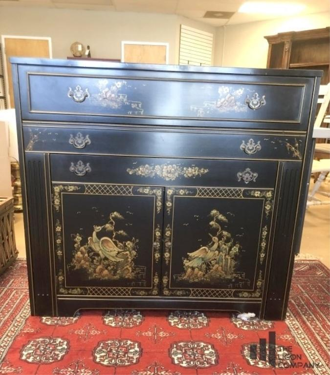 imported-antique-buffet-with-pullout-dining-table