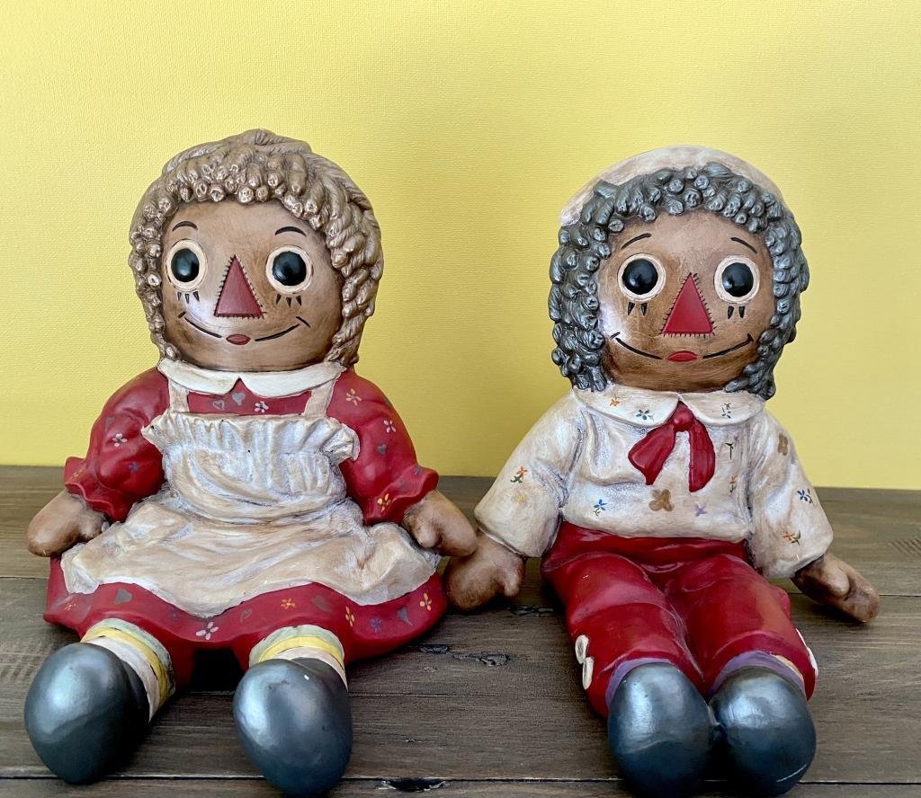 hand-painted-brown-raggedy-ann-andy-bookends
