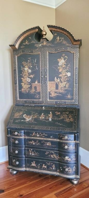 oriental-black-lacquer-detailed-secretary-desk