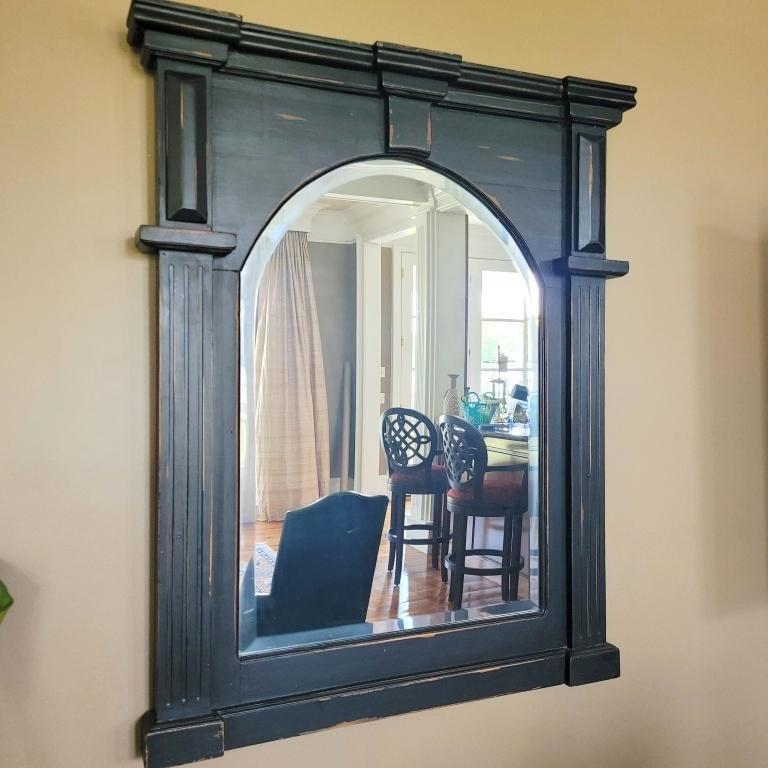 beveled-mirror-with-window-frame-style