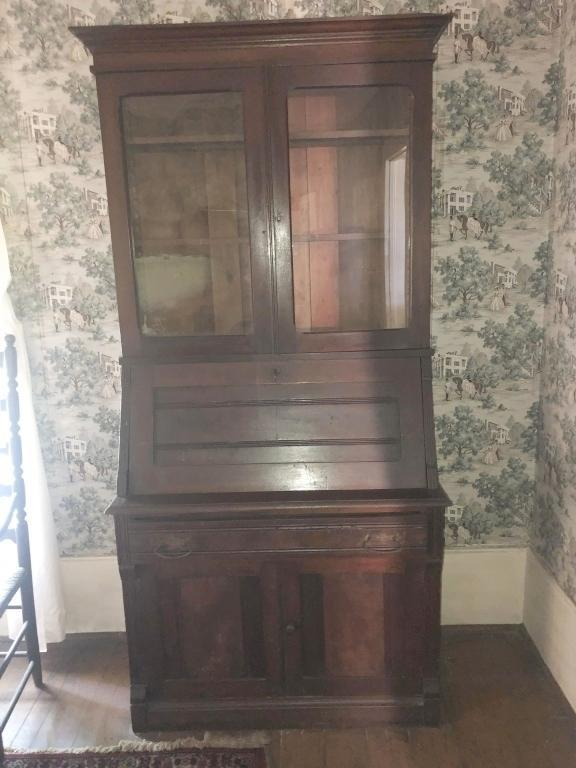 antique-secretary-with-pull-down-writing-desk