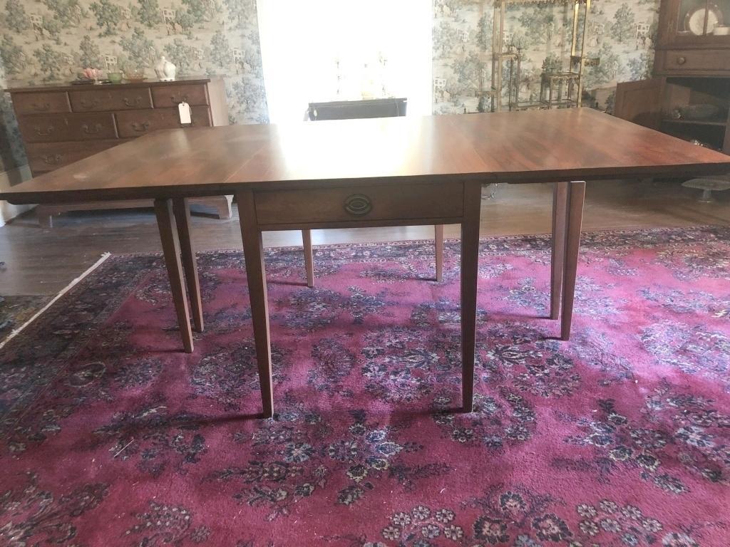 mid-century-drop-leaf-dining-table